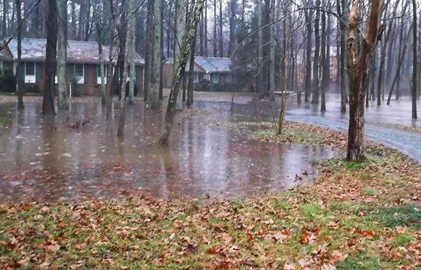 Flooding from Booker Creek