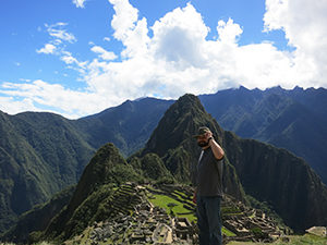 Aiman, with Machu Picchu and cloud forest in the background