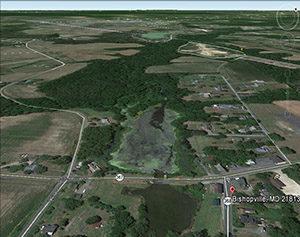 Bishopville Pond, before restoration