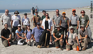 Michael & Terry (front, left) and the black skimmer banding team