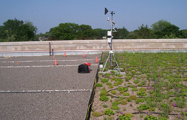 Monitoring a greenroof pilot project on a New York City public school