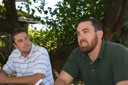 Summer interns Nick Cloyd (L) & Bobby Compton(R)