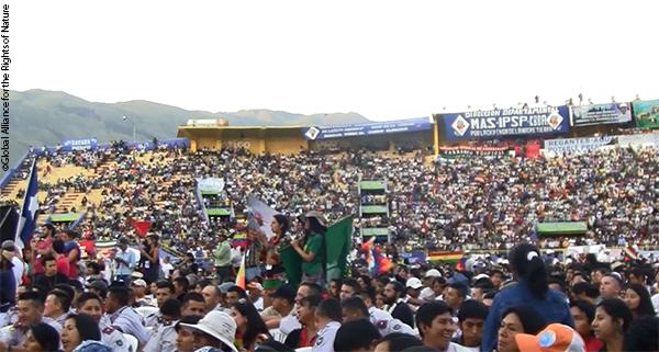 Crowds at Cochabamba