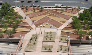 Arid region water conservation, irrigation, and reuse at Pete V. Domenici U.S. Courthouse