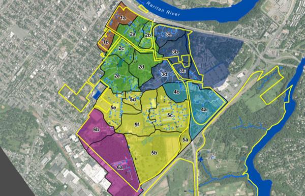 Campus drainage basins and sub-basins