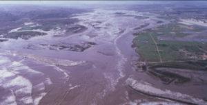 1980 flood of the Tijuana Estuary. Image courtesy of Salt Marsh Secrets