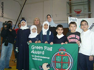 "Participants in GreenFaith's ""Green Flag"" schools program"