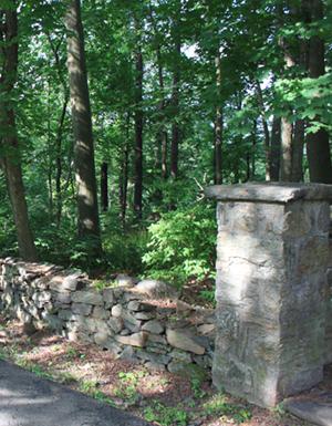 Historic campus wall