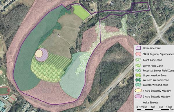 Recommended habitat zones