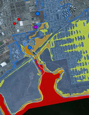 Howard Beach floodzone map (detail)