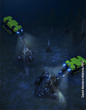 Hypothetical deep-sea restoration at hydrothermal vent site