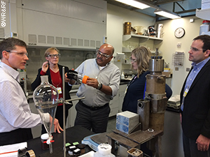 LIFT program participants tour lab facilites at PNNL where a collaborative LIFT project is being conducted