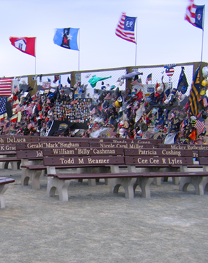 Seating area at the Flight 93 Memorial