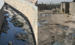 open sewer (l) Old Kandahar Neighborhood (r) ©M Ogden