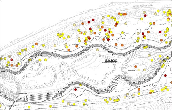 Master layout of Elm Pond