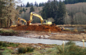 Partial removal of the levee at Breacj 1