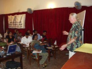 Robin Lewis teaching