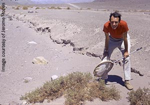 Dr. Rozen in the Atacama Desert in the 1970s