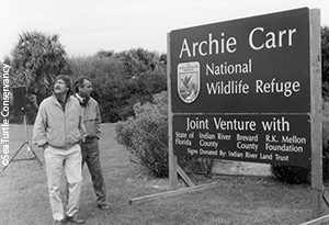 Archie Carr's sons, Tom and Chuck, at Carr Refuge dedication