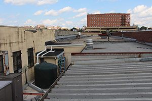 2100-gallon cistern catches rooftop runoff