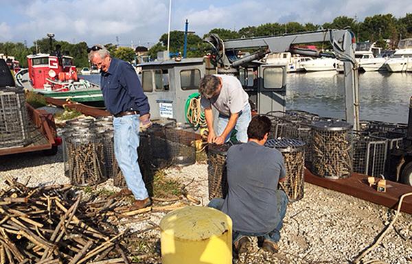 Preparing larval fish habitat structures for installation
