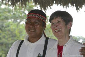 Robin and a friend in Ecuador