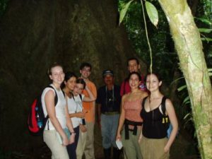 Stephanie (2nd from right) & fellow students